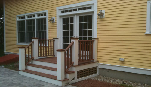 deck builders in ma - let us build a beautiful mahogany deck.