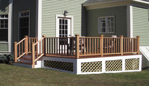 deck companies in MA - from deck design to beautiful decking, we can custom build your dream outdoor deck or porch
