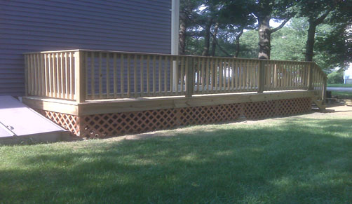 Pressure treated deck - perfect for any type of budget - perfect for decks and porches.