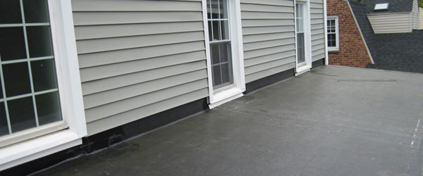 Flat roofing and repair services in Melrose, Massachusetts